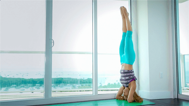 detox with bound headstand