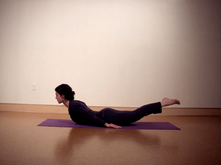 locust pose for yoga